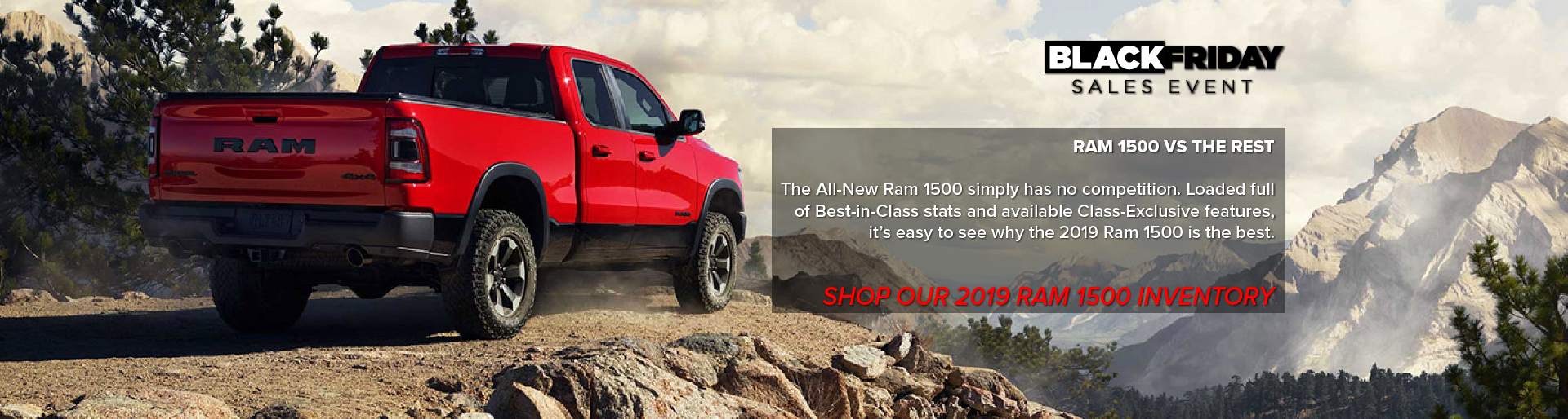 Tanner Motors RAM 1500 Black Friday Sales Event