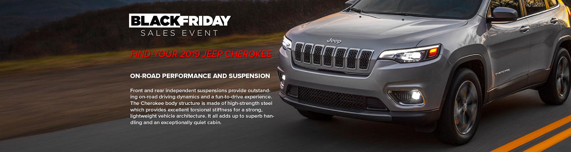 Tanner Motors Cherokee Black Friday Sales Event