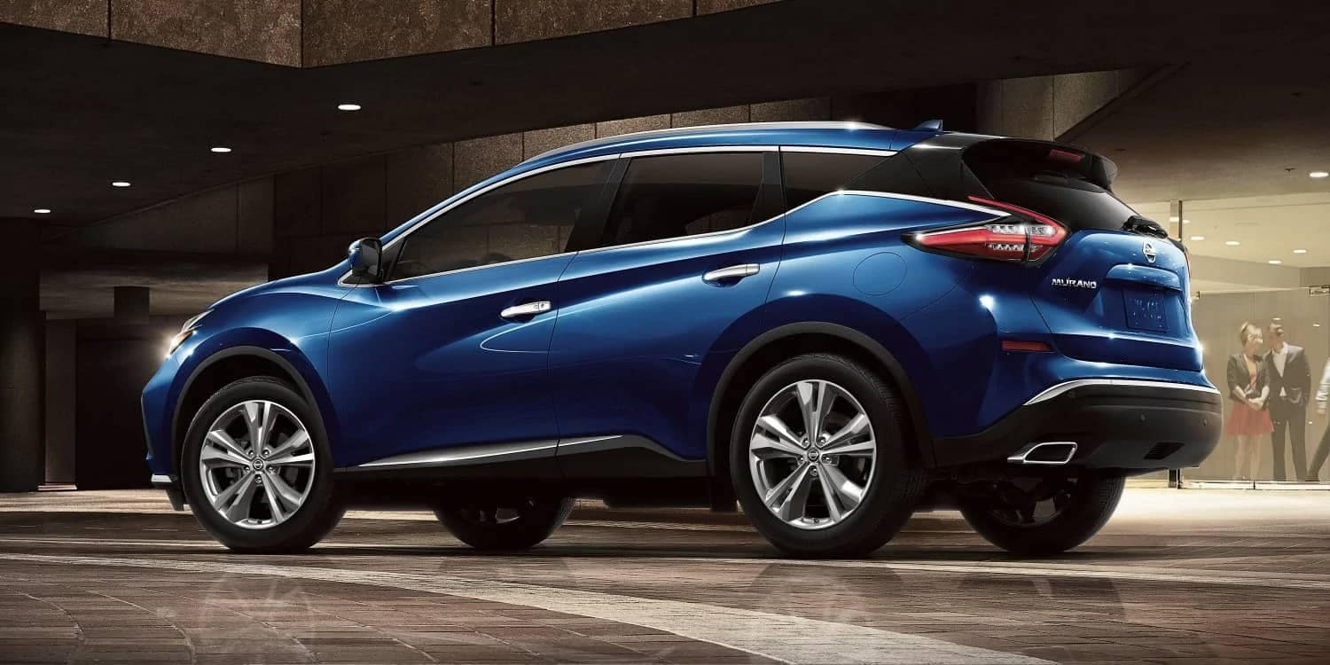 Blue 2019 Nissan Murano side view