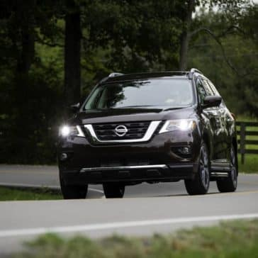 2019 Nissan Pathfinder on road
