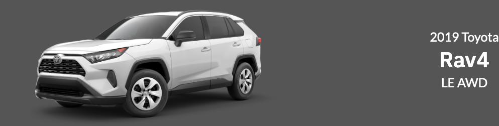 2019 Toyota RAV4 Lease specials near Providence RI
