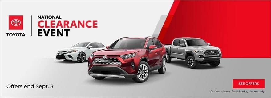 Tarbox Toyota National Clearance Event