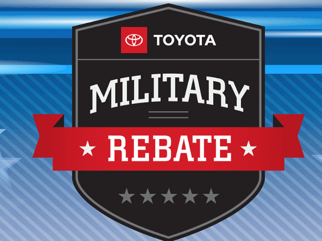 Toyota Military Rebate near Westerly RI
