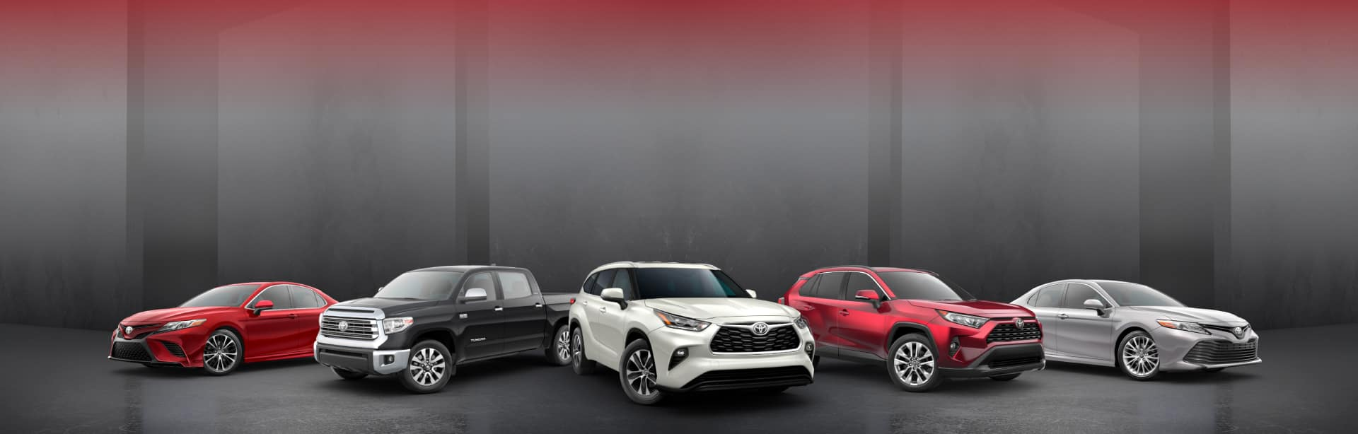 Toyota model lineup Header Image