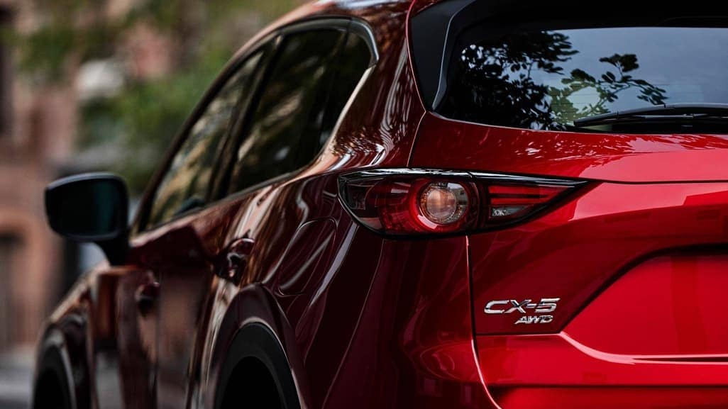 2019 Mazda CX-5 rearview up close