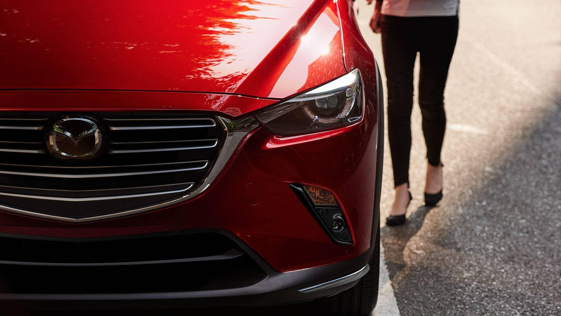 2019 Mazda CX-3 front exterior up close