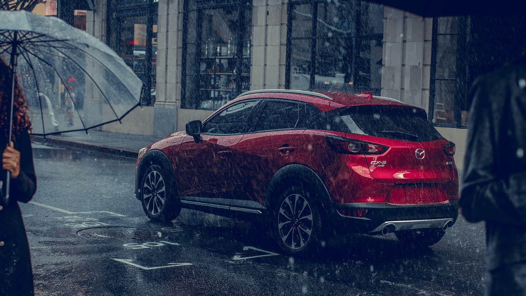 2019 Mazda CX-3 driving in rain