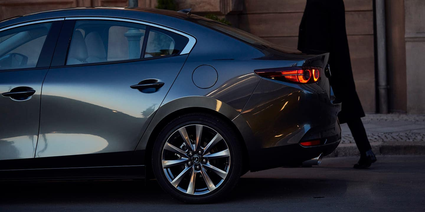 2020 Mazda3 tire and rear close up