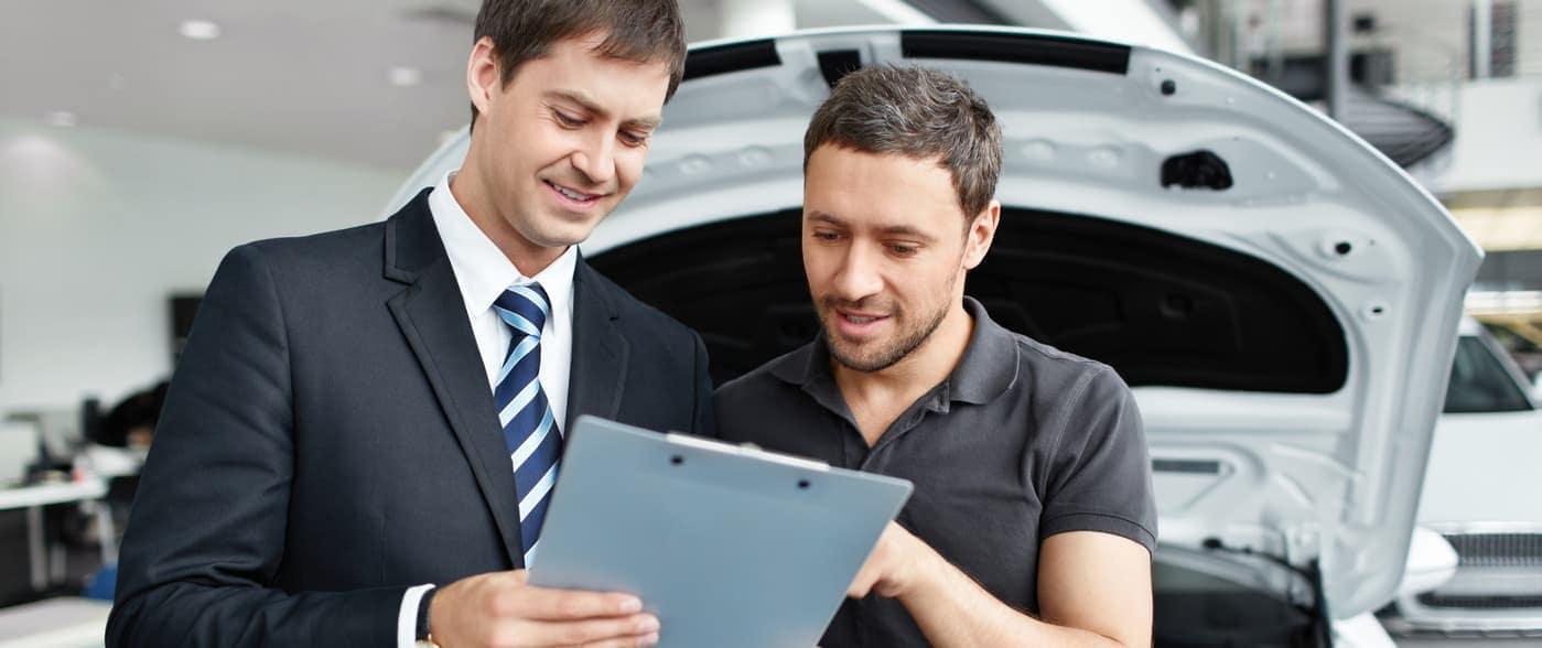 Man buying a car