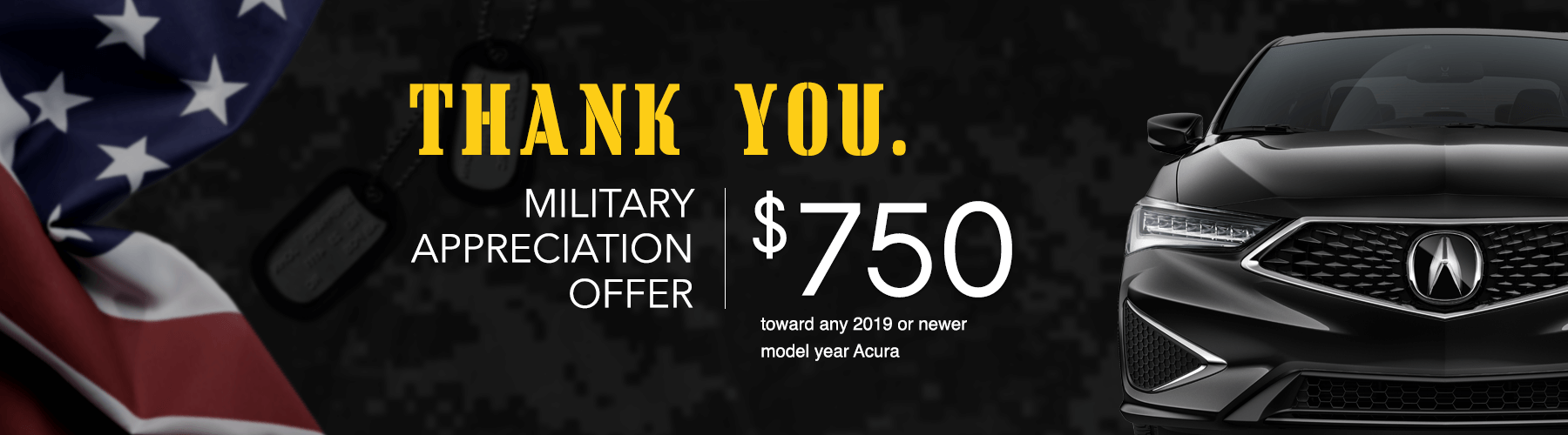 2019 Acura Military Appreciation Offer Banner