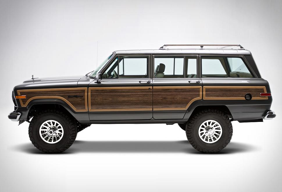 Retro Jeep With Wood Panel