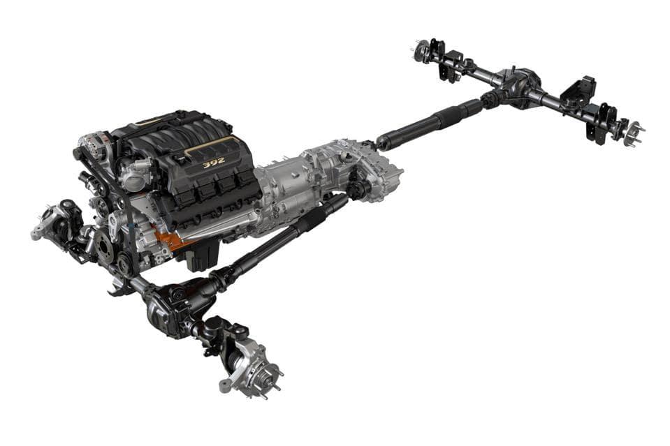 Jeep Wrangler Rubicon 392 Hemi Powertrain V8
