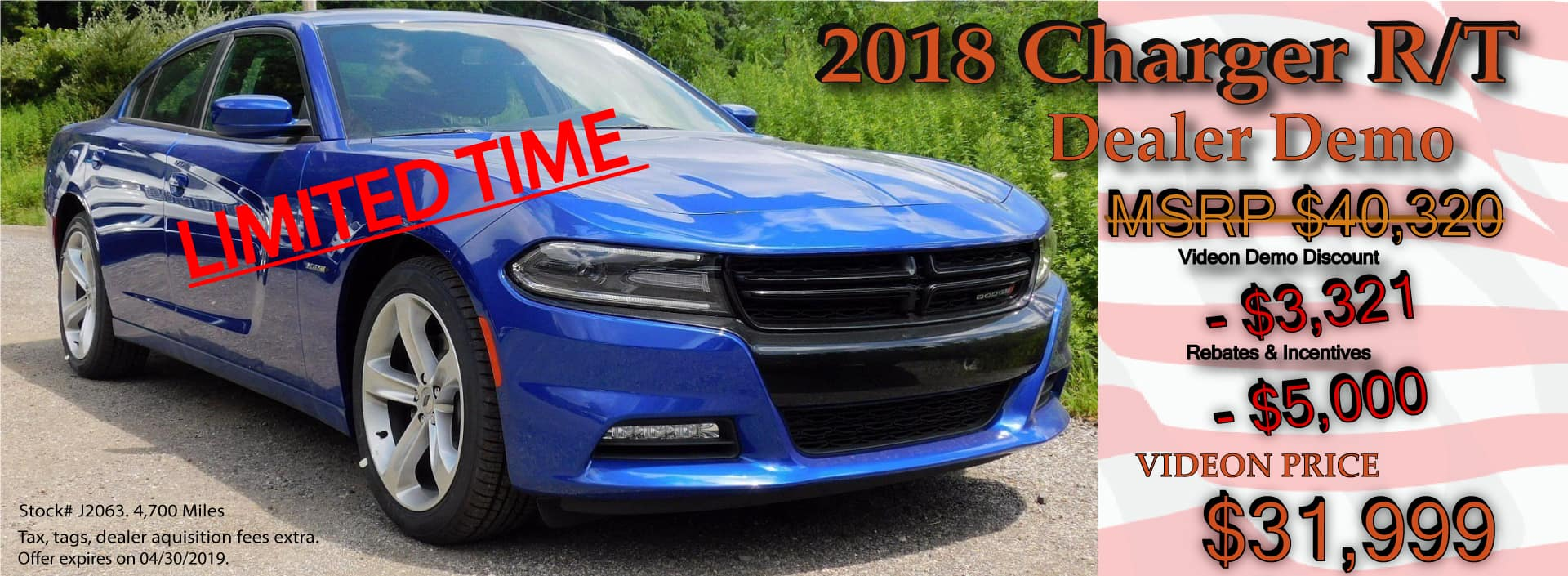 Charger RT Special Offer April 2019
