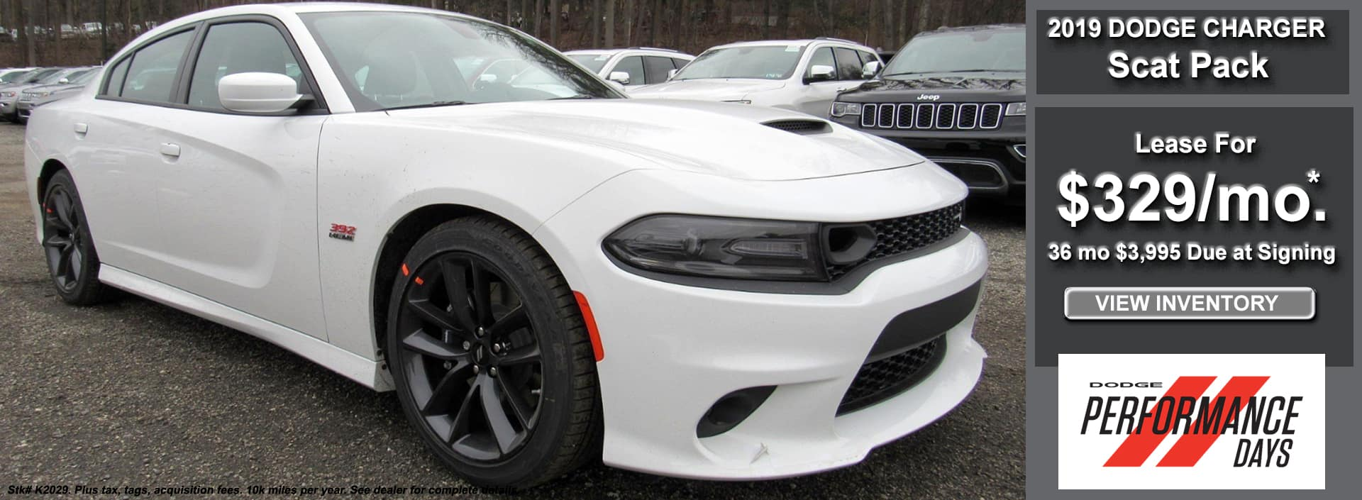 Charger Scat Pack Lease April 2019