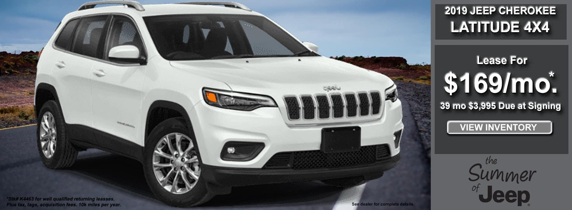 Cherokee Latitude Lease June 2019