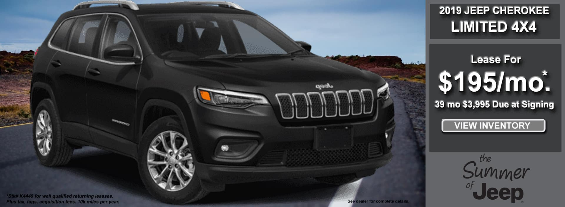 Cherokee Limited Lease June 2019