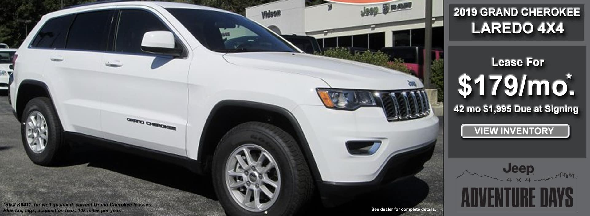 Grand Cherokee Laredo Lease October 2019