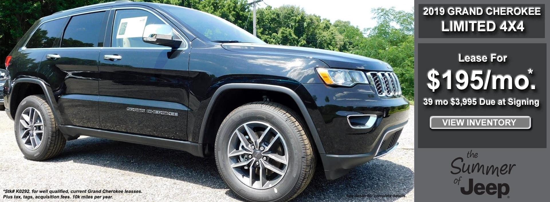Grand Cherokee Limited Lease July 2019