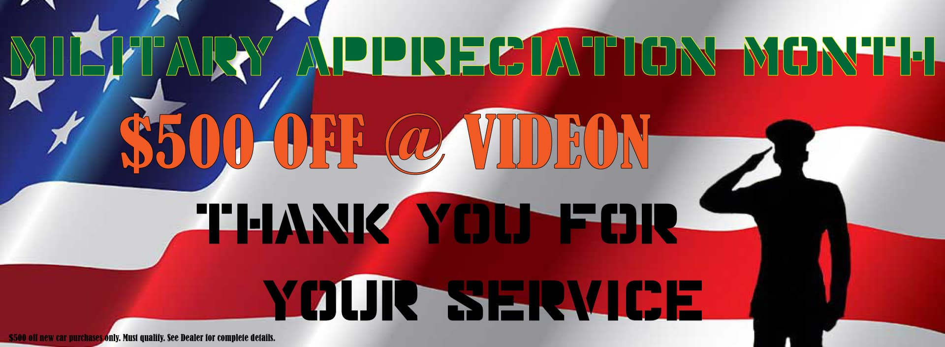 Military Appreciation Month at Videon