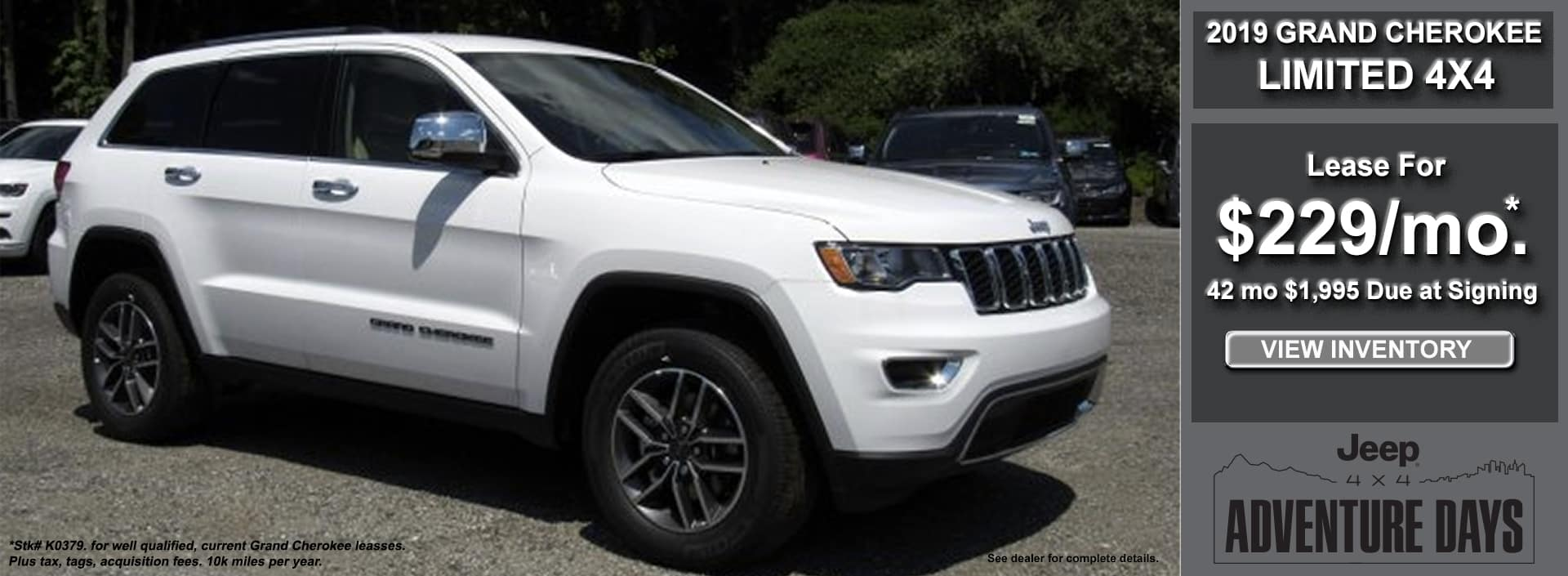 Grand Cherokee Limited Lease October 2019