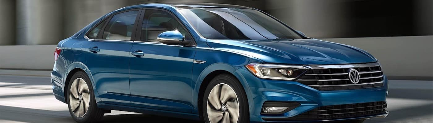 Blue VW Jetta