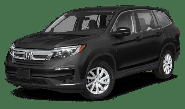 Black 2020 Honda Pilot Sideface
