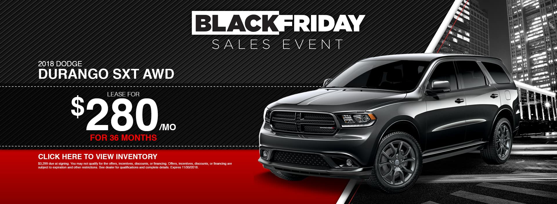 2018 Dodge Durango SXT AWD Lease Special at Waseca Dodge in Waseca, MN