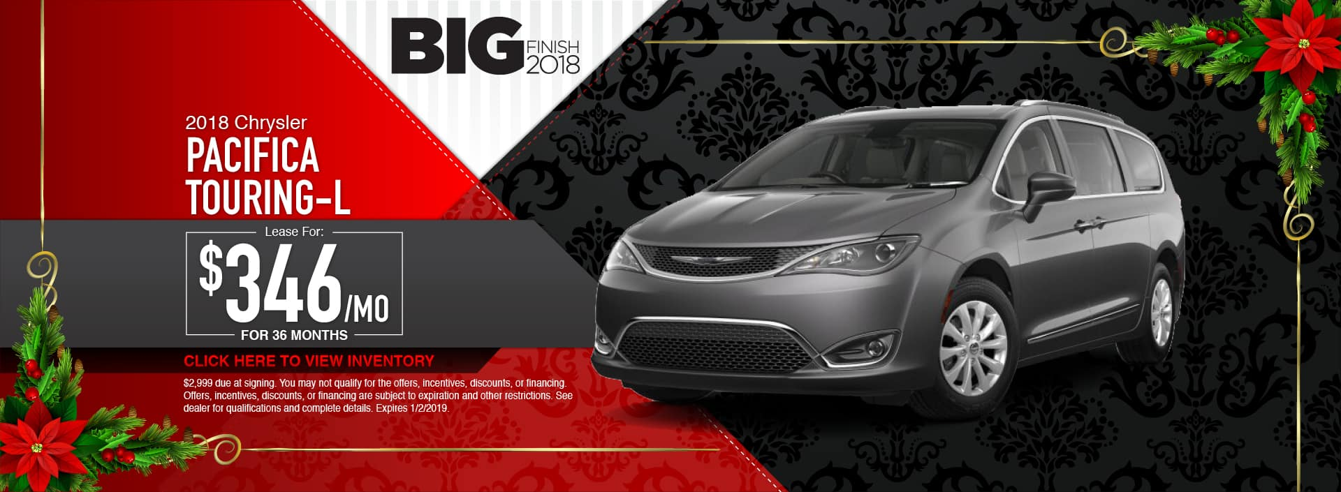2018 Chrysler Pacifica Touring-L Lease Special at Waseca Chrysler in Waseca, MN
