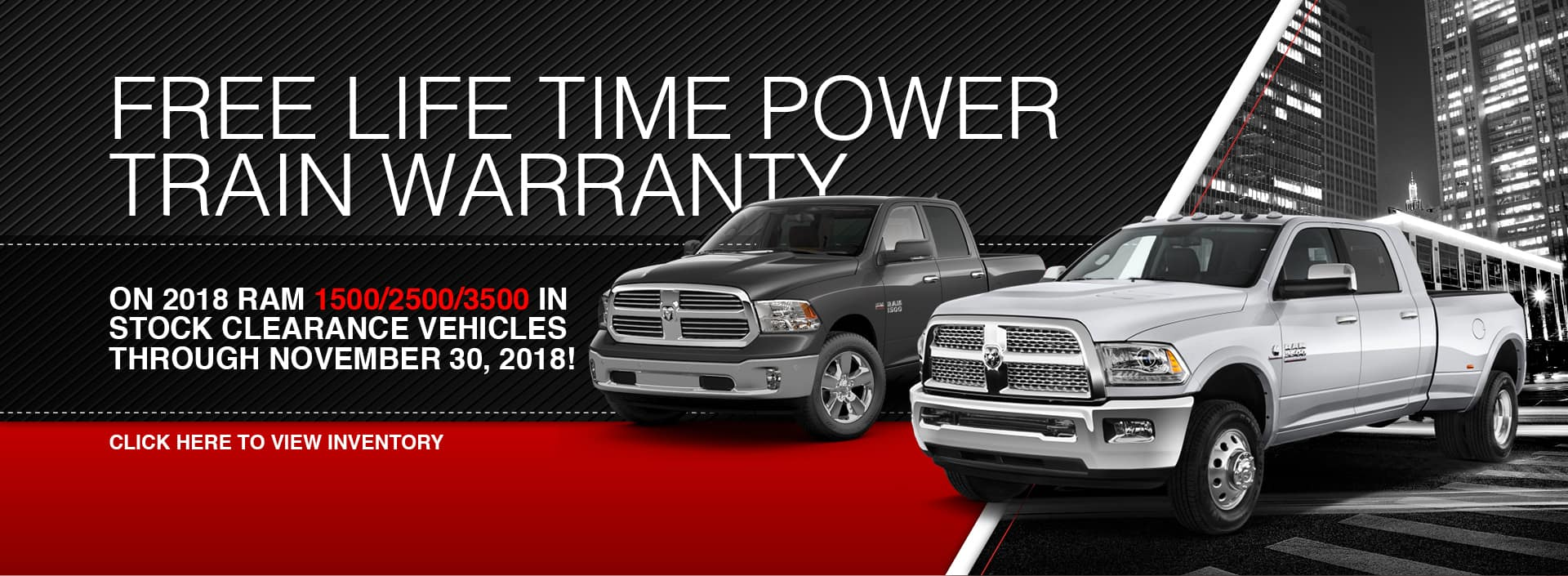 Free Life Time Power Train Warranty at Waseca RAM in Waseca, MN
