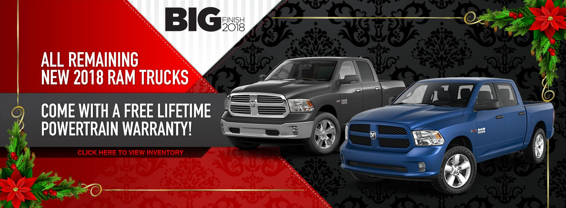 Free Lifetime Powertrain Warranty with the purchase of a new 2018 RAM truck in Waseca, MN