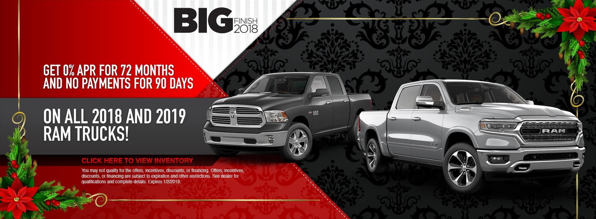 2018 and 2019 RAM Truck Finance Special in Waseca, MN