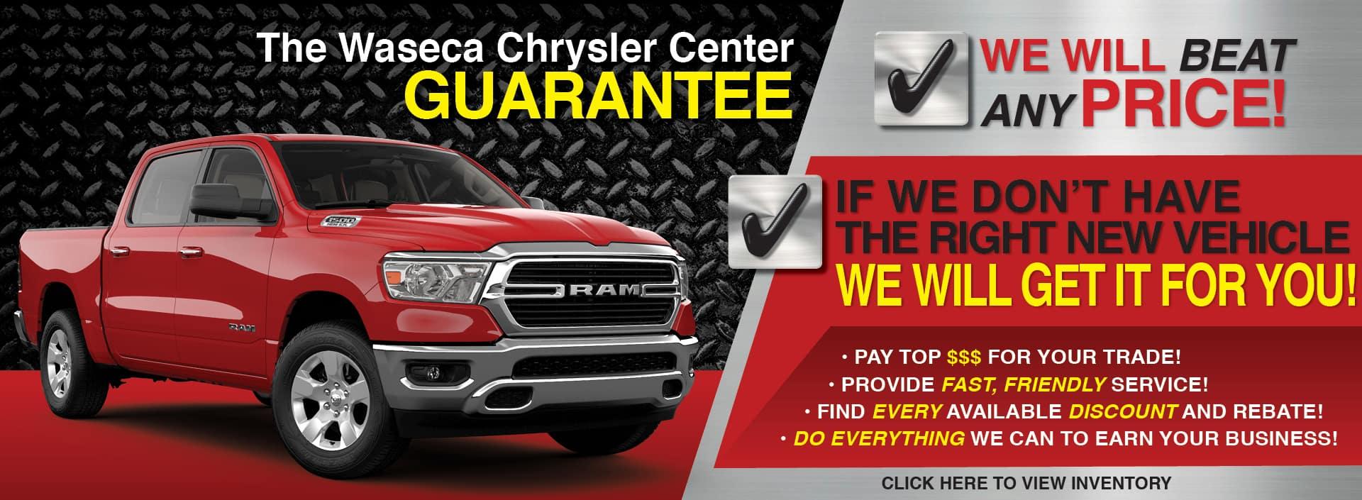 Waseca Chrysler Center Guarantee