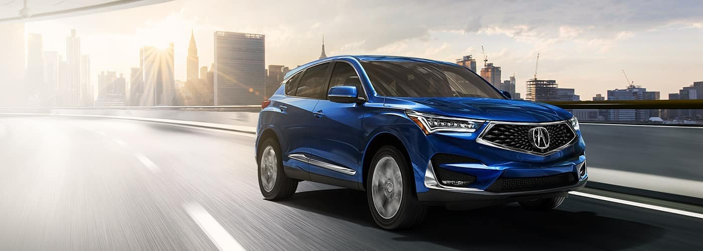 2020 Acura RDX Blue on highway
