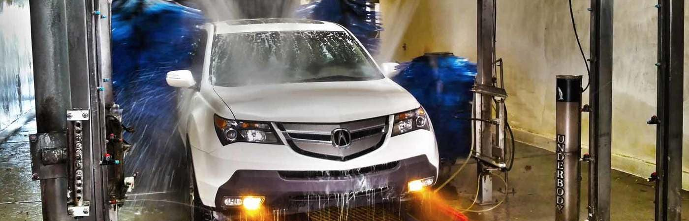 acura going through a touchless car wash