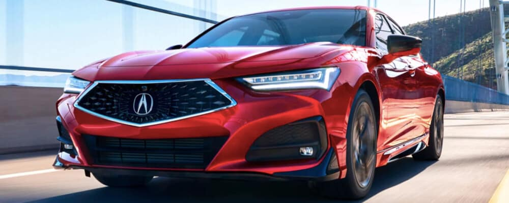 2021 Acura TLX review red vehicle