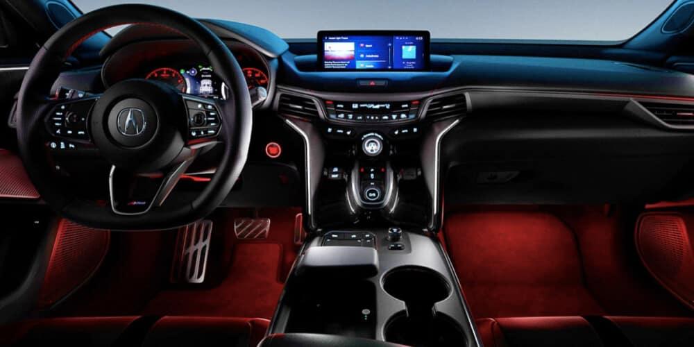 2021 Acura TLX interior dashboard