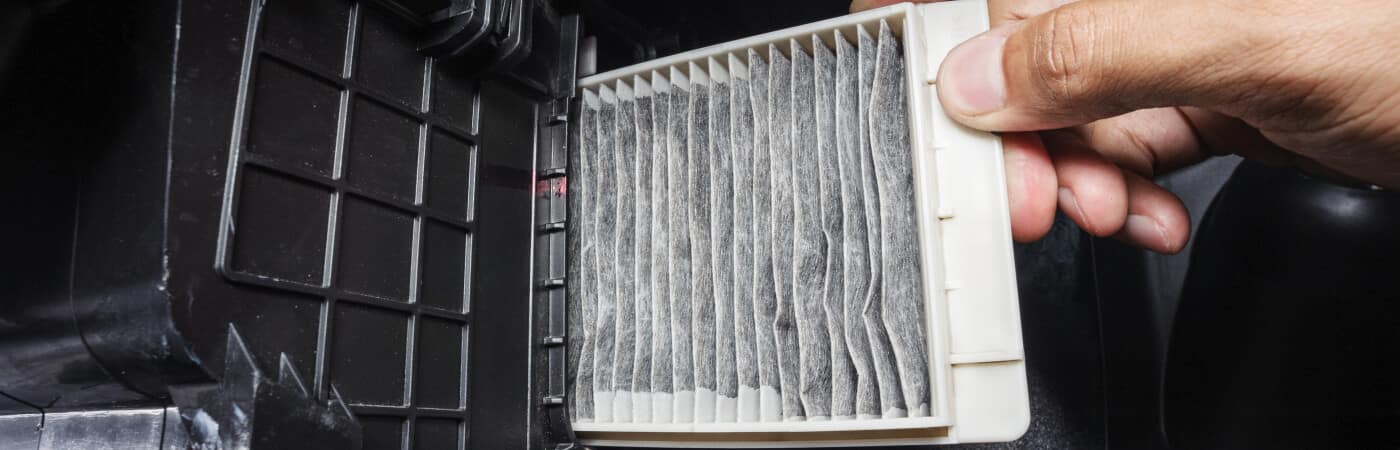 changing dirty cabin air filter