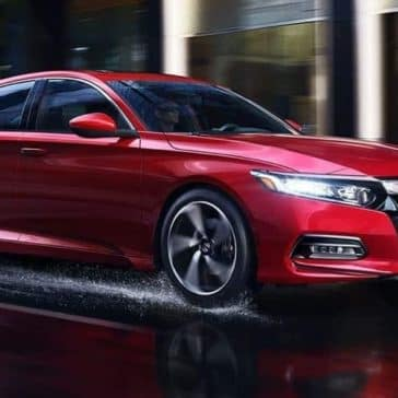 2019 Honda Accord Sedan on wet road