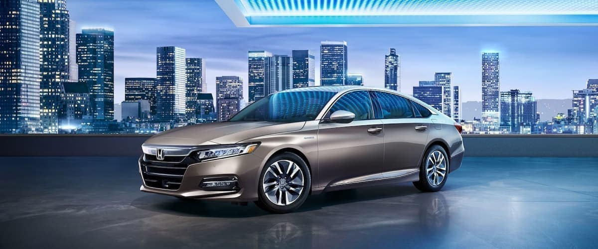 2019 Honda Accord Sedan with city in background
