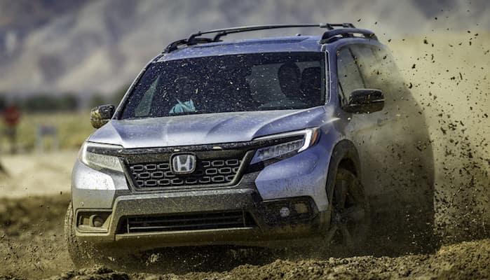 2019 Honda Passport in mud