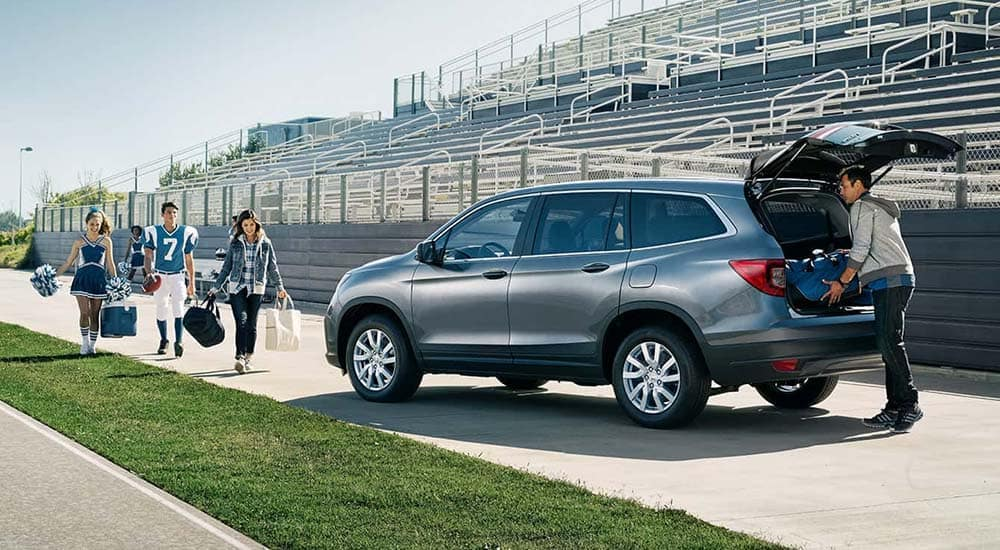 2019 Honda Pilot Parked on Football Field