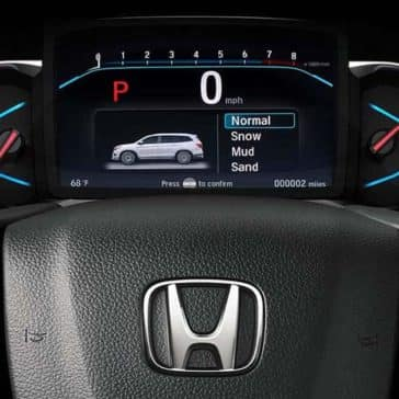 2019 Honda Pilot Steering Wheel and Drivers Display Screen