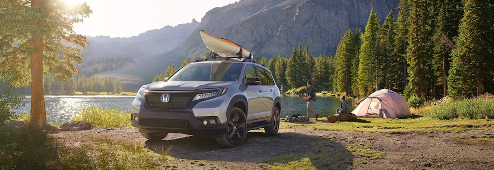 People Camping with Honda Passport