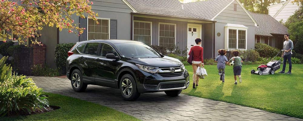 Honda CR-V Parked in Driveway