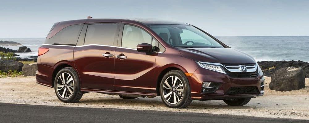 2020 Honda Odyssey parked near a beach