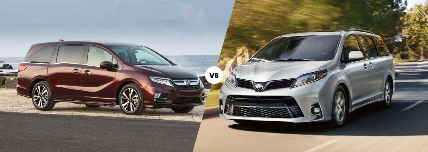 2020 honda odyssey vs 2020 toyota sienna minivan comparison weir canyon honda