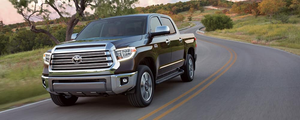2019 Toyota Tundra on the road banner