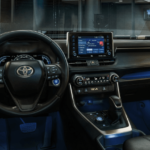 2020 Toyota RAV-4 Interior Dashboard and steering wheel