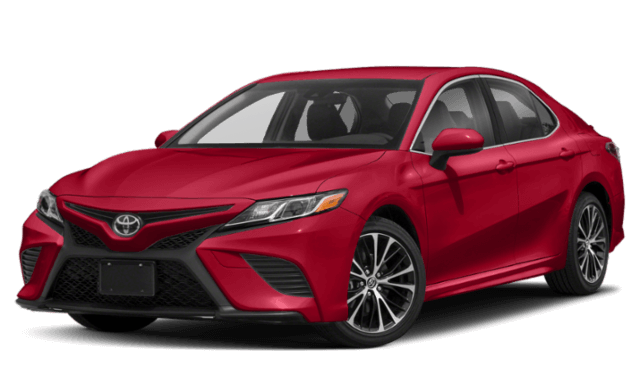 2020 Toyota Camry SE trim level red