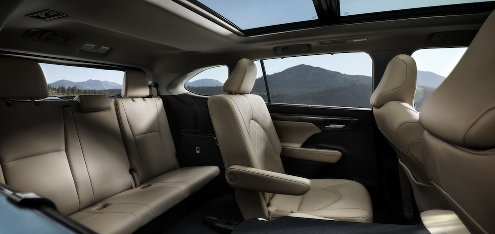 2020 Toyota Highlander interior second row seating